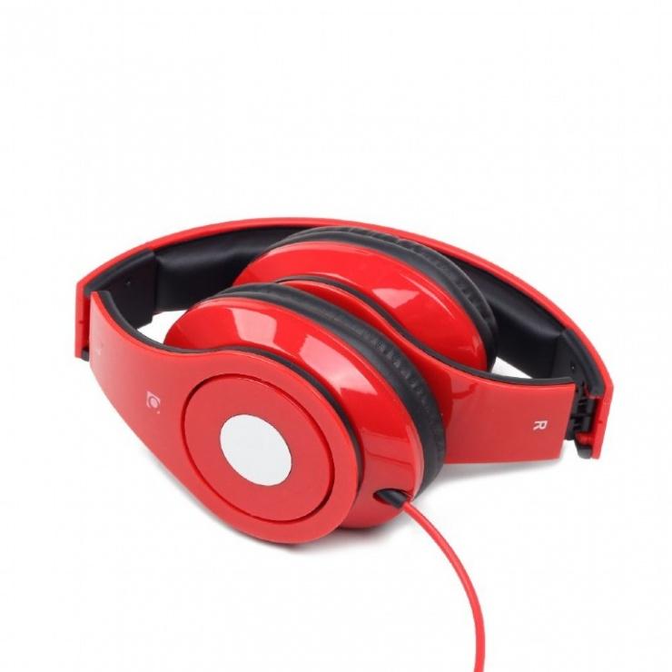 Imagine Casti stereo Detroit Red, Gembird MHS-DTW-R-1