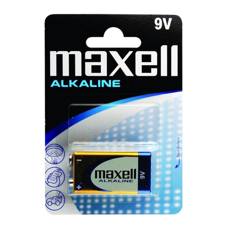 Imagine Baterie Alcalina 9V Blister, Maxell MN1604-1