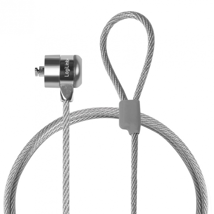 Imagine Cablu antifurt laptop cu cheie, metal, Logilink NBS003-1