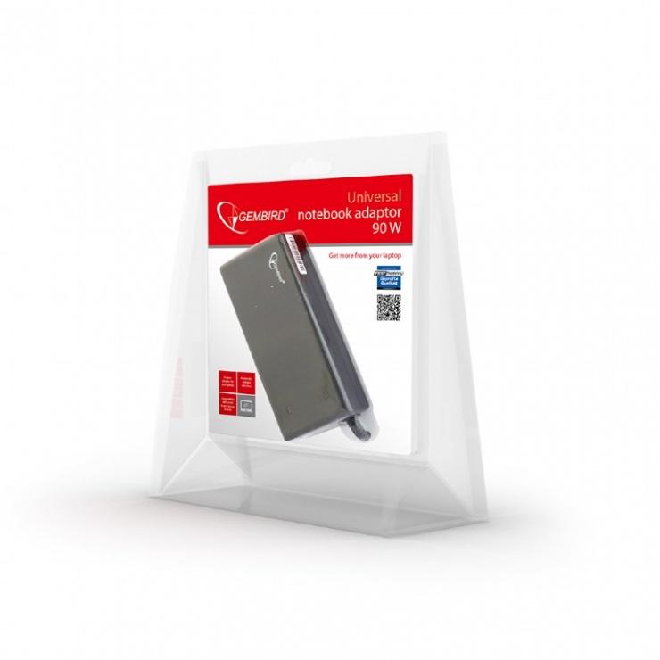 Imagine Alimentator notebook universal 90W/20V/4.5A, Gembird NPA-AC1D-3
