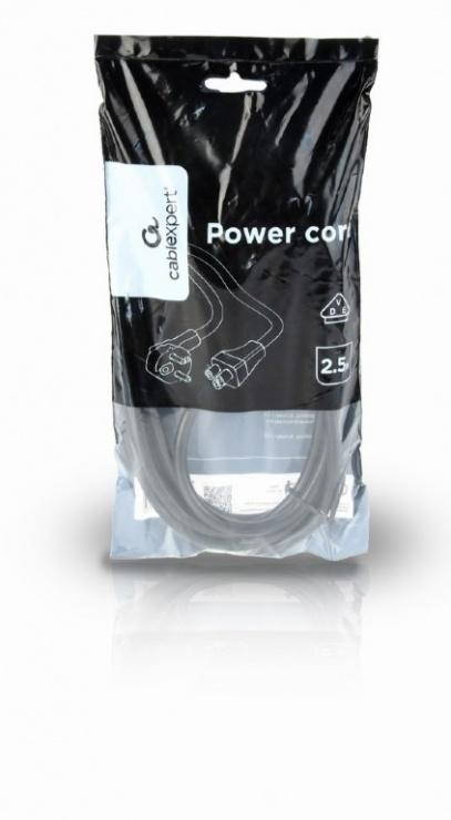 Imagine Cablu de alimentare Schuko la C5 Mickey Mouse 2.5m Negru, Gembird PC-186-ML12-2.5M