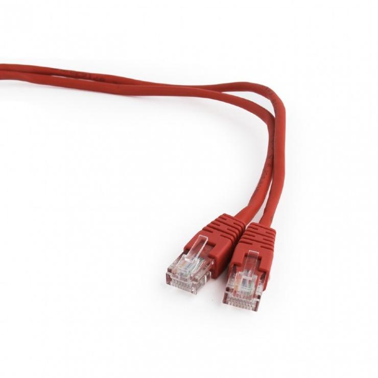Imagine Cablu retea UTP Cat.5e 0.5m rosu, Gembird PP12-0.5M/R