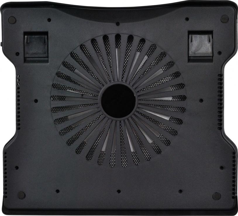 """Imagine Stand notebook 17"""", 1 x fan 12mm cu led albastru, Spacer SPNC-883"""