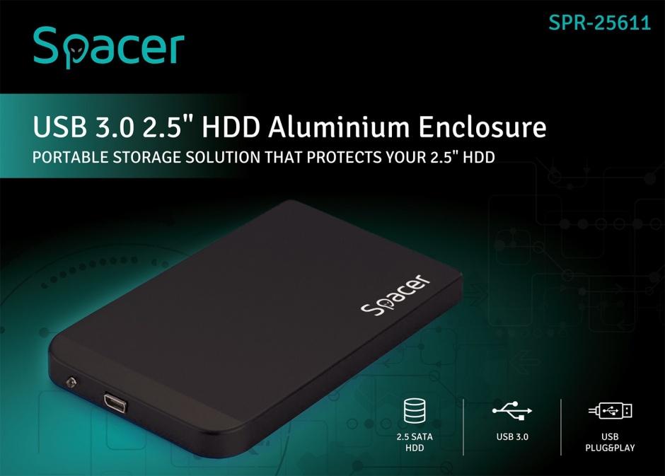 "Imagine Rack extern 2.5"" HDD SATA cu USB 3.0, Spacer SPR-25611-2"