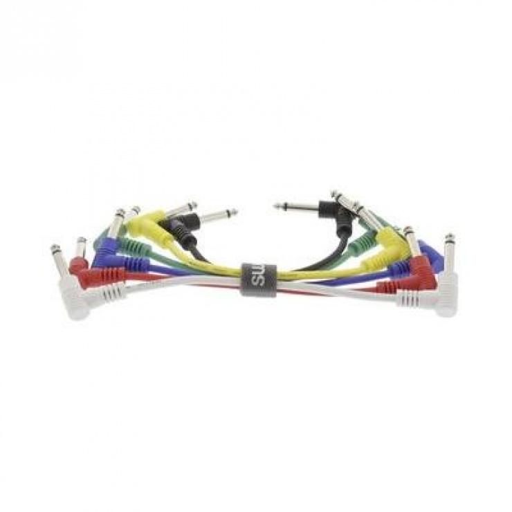 Imagine Set 6 cabluri audio jack 6.35mm mono T-T 0.15m, SWEEX SWOP23010E015