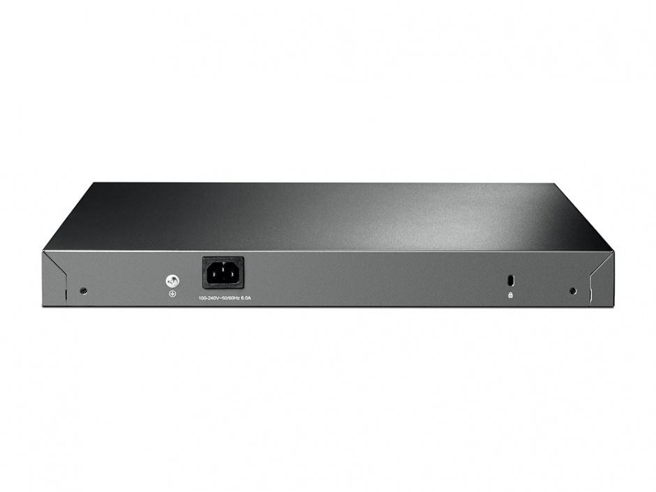 Imagine Switch JetStream 24 porturi Gigabit L2 Managed PoE+ cu 4 SFP Slots, TP-LINK T2600G-28MPS(TL-SG3424P)