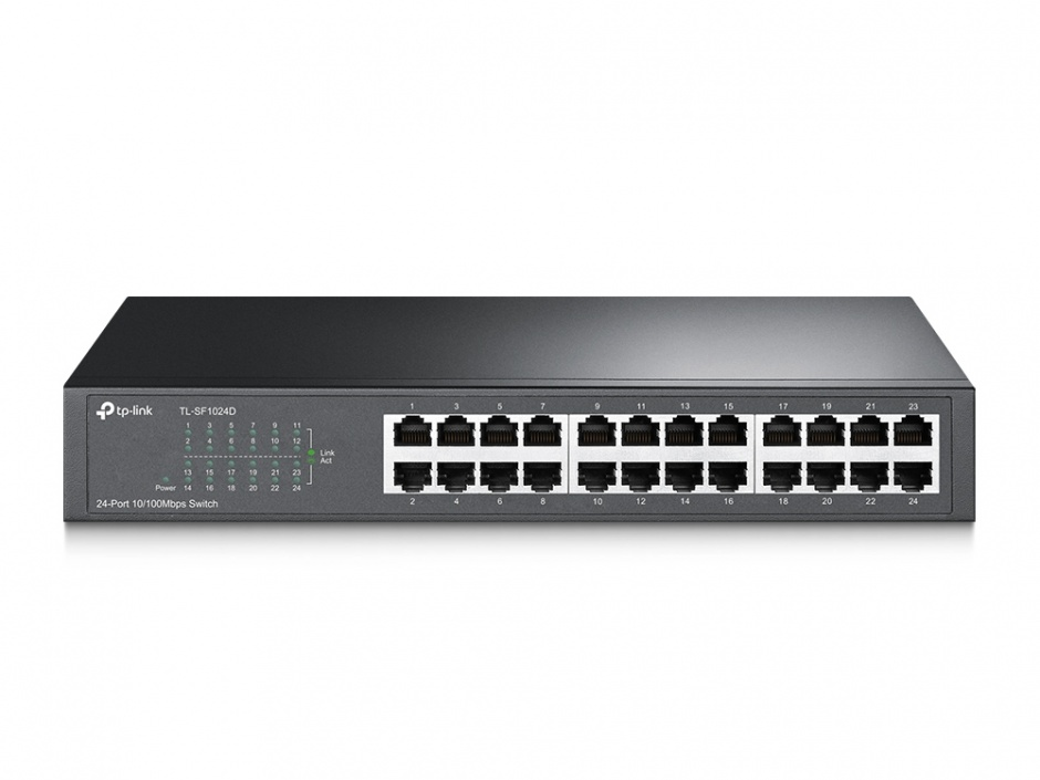 "Imagine Switch 24 porturi, carcasa metalica, rack 13"", TP-Link TL-SF1024D"