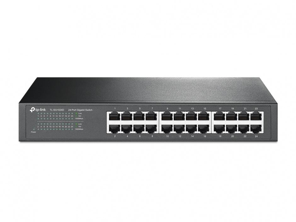 Imagine Switch 24 porturi Gigabit, desktop/rack, TP-Link TL-SG1024D