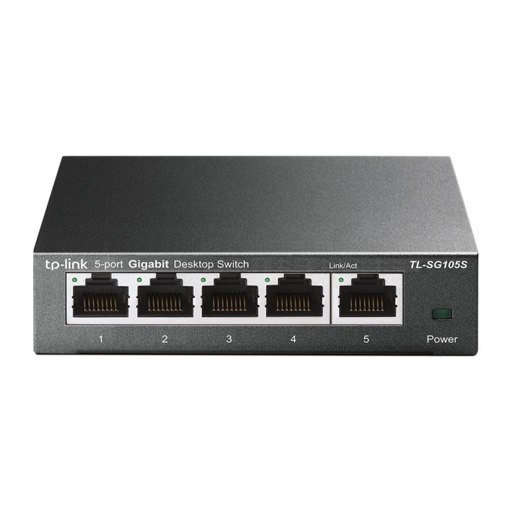 Imagine Switch 5 porturi Gigabit, TP-LINK TL-SG105S