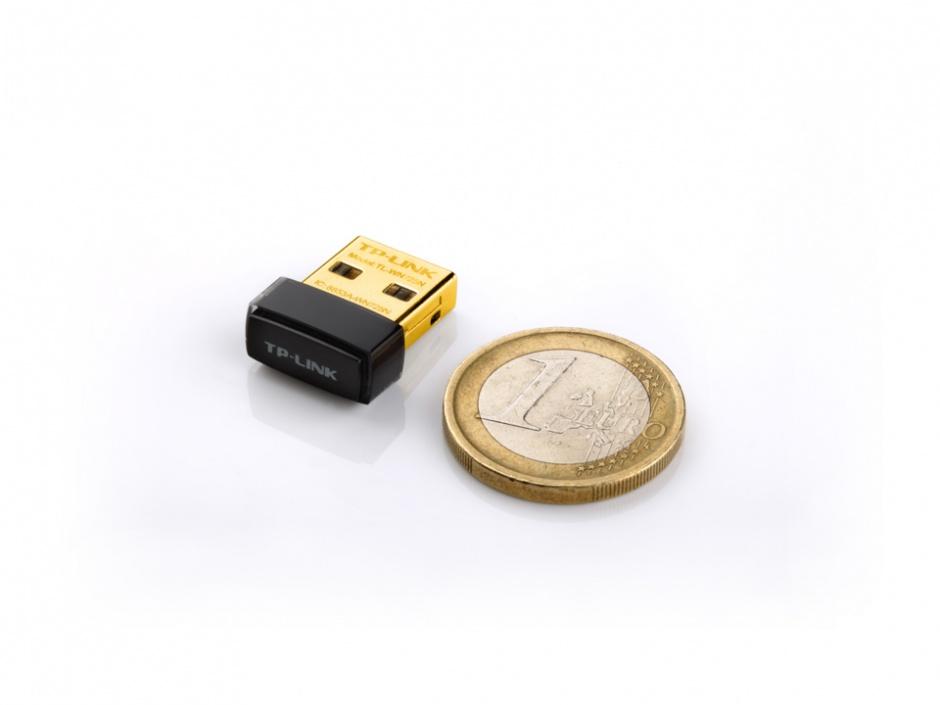 Imagine Adaptor Wireless N USB 150Mbps, nano, TP-Link TL-WN725N-2