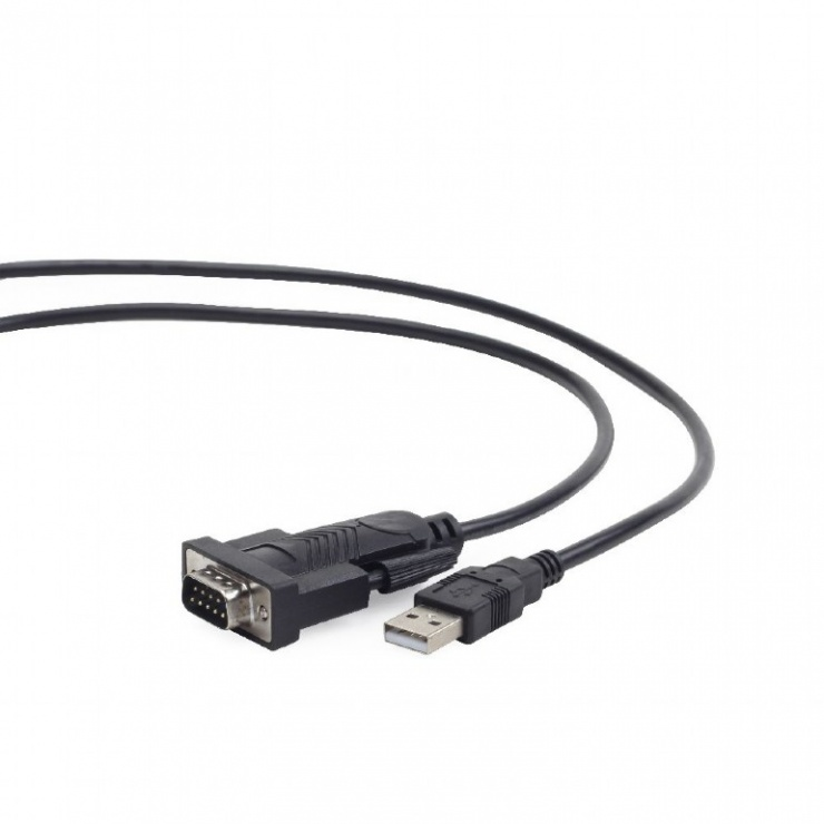 Imagine Cablu USB la serial RS232 1.5m, GEMBIRD UAS-DB9M-02