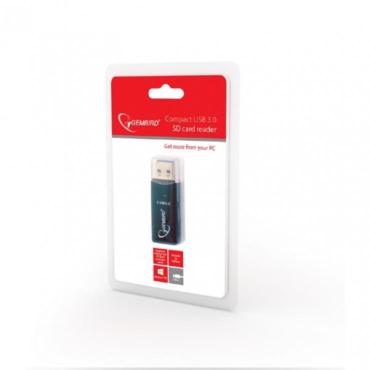 Imagine Cititor de carduri USB 3.0, Gembird UHB-CR3-01