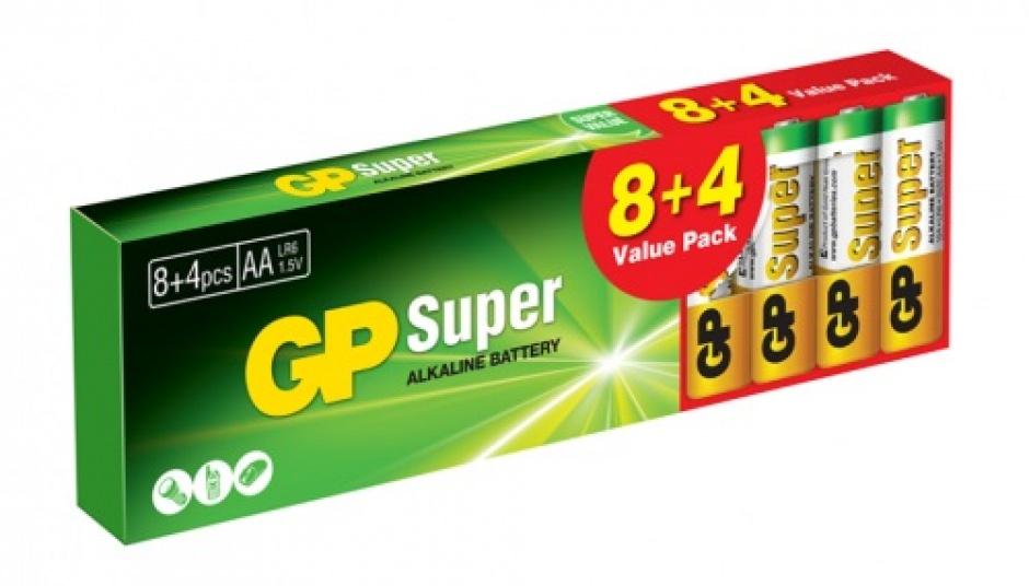 Imagine Set 12 buc baterie R6 AA, GP Batteries