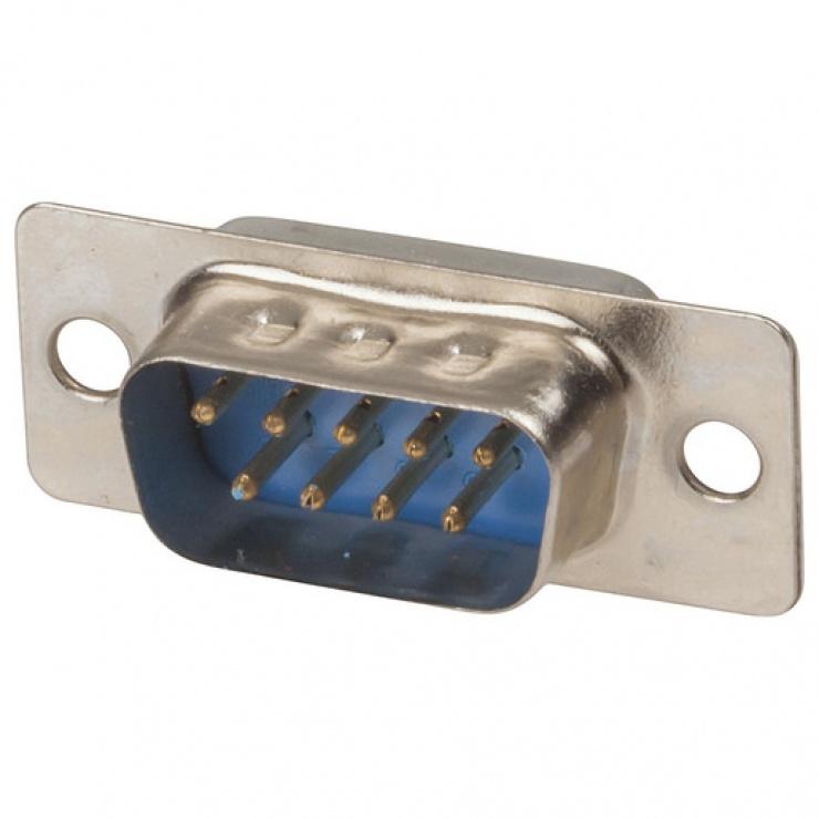 Imagine Conector serial DB9 tata pentru lipit, c9m