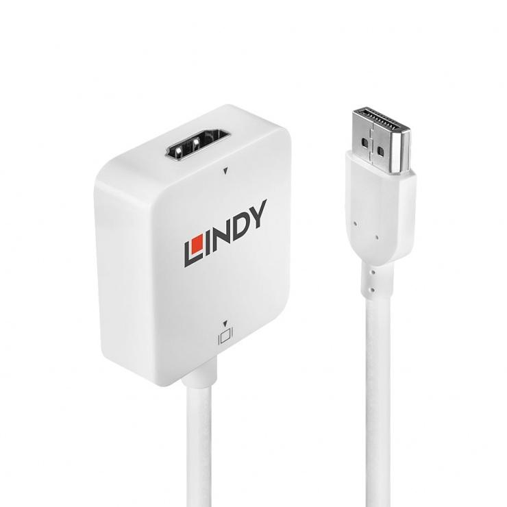 Imagine Adaptor HDMI la DisplayPort 4K T-M, Lindy L38146