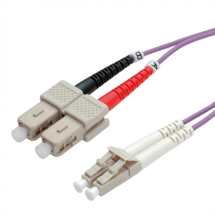 Imagine Cablu fibra optica LC-SC OM4 duplex multimode 3m, Value 21.99.8763