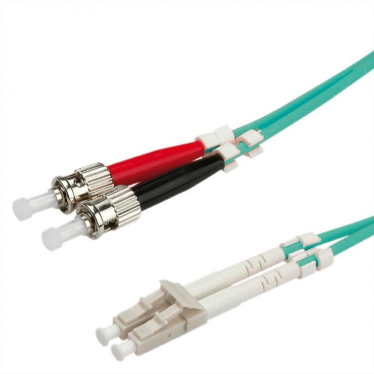 Imagine Cablu fibra optica LC-ST OM3 duplex multimode 10m, Value 21.99.8728