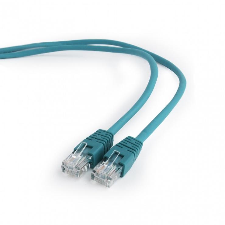 Imagine Cablu retea UTP Cat.5e 1m verde, Gembird PP12-1M/G