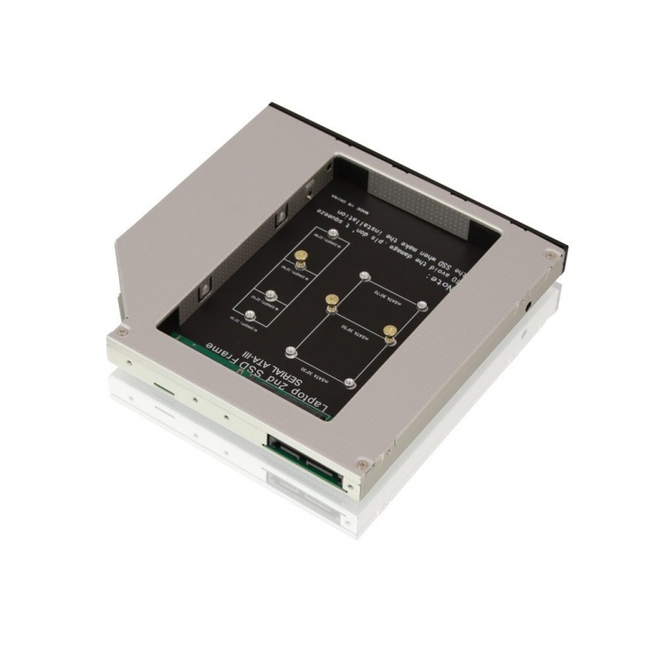 "Imagine Installation frame (Caddy) 5.25"" pentru M.2 NGFF si mSATA (12.7mm), Lindy L20929"