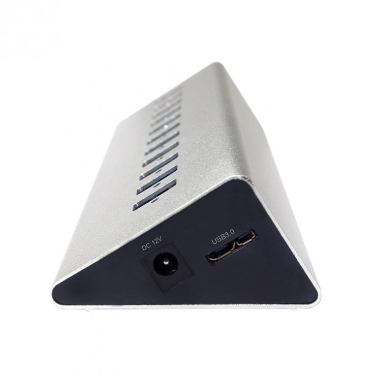 Imagine HUB USB 3.0 cu 10 porturi + 1 x Incarcare rapida/Fast Charging 3.0, Logilink UA0229