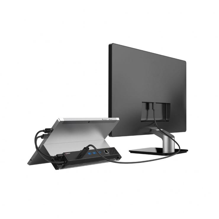 Imagine Docking Station Mini Displayport & USB 3.1 pentru tableta la HDMI, USB 3.1, Gigabit LAN, Lindy L4323