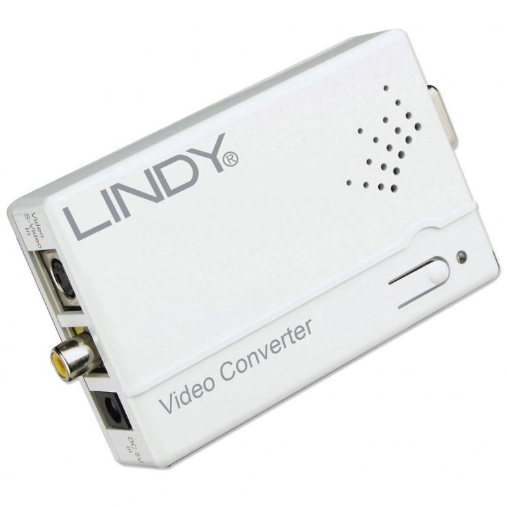 Imagine Convertor RCA/S-Video la VGA, Lindy L32629