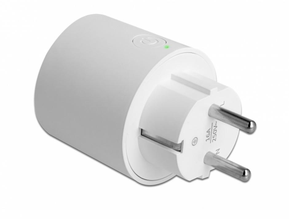 Imagine Priza inteligenta Wifi MQTT cu monitorizarea energiei, Delock 11827