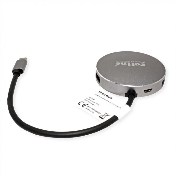Imagine HUB USB 3.0-C la 4 x USB-A, Roline 14.02.5036
