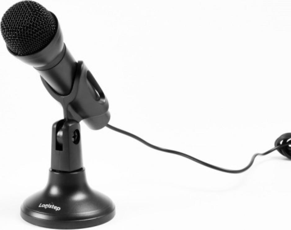 Imagine Microfon desktop jack 3.5mm Negru, Logistep LS-MIC800