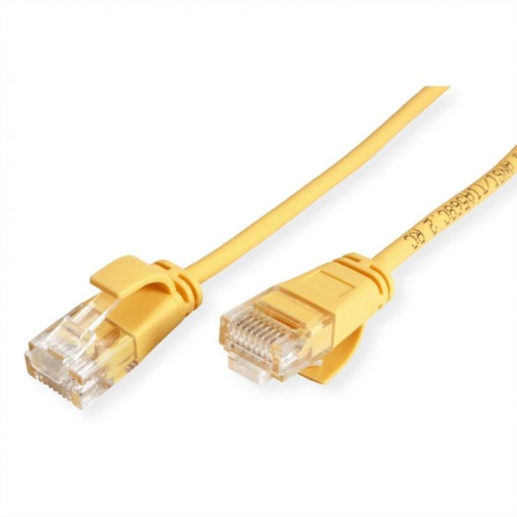 Imagine Cablu de retea Slim cat 6A UTP LSOH 1.5m Galben, Roline 21.15.3924