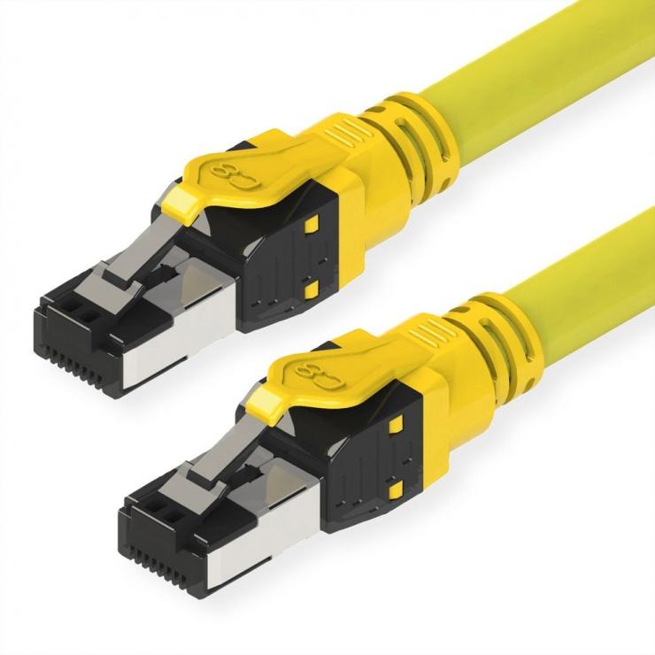 Imagine Cablu de retea RJ45 S / FTP- (PiMF-) Cat.8 LSOH Galben 2m, Roline 21.15.1862