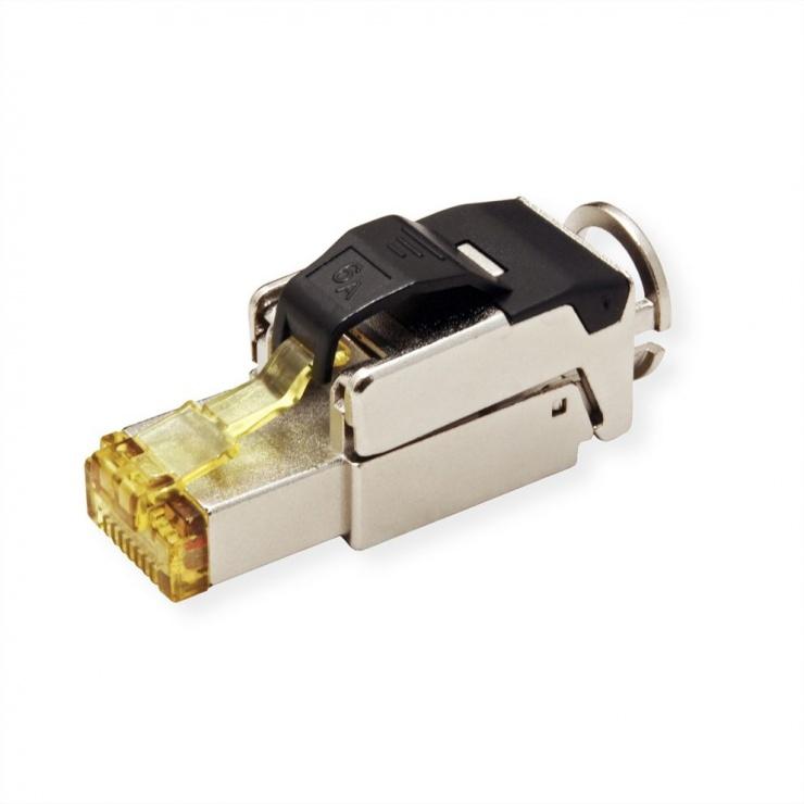 Imagine Conector de ansamblat RJ45 cat 6A STP, Roline 21.17.0323