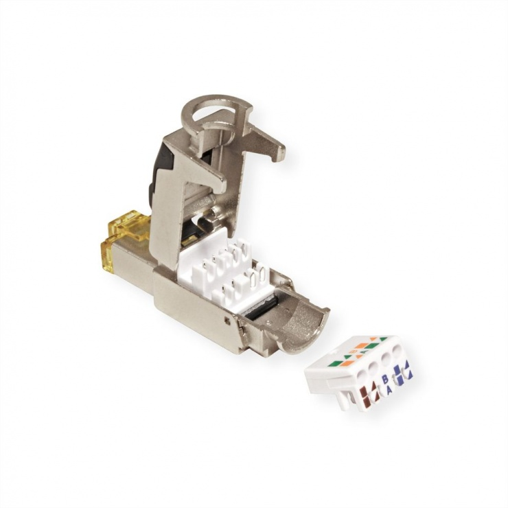 Imagine Conector de ansamblat RJ45 cat 6A STP, Roline 21.17.0323