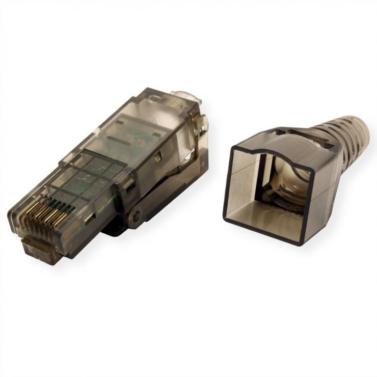 Imagine Conector retea RJ45 Cat.6 UTP pentru fir solid AWG 23-26, Value 26.99.0370