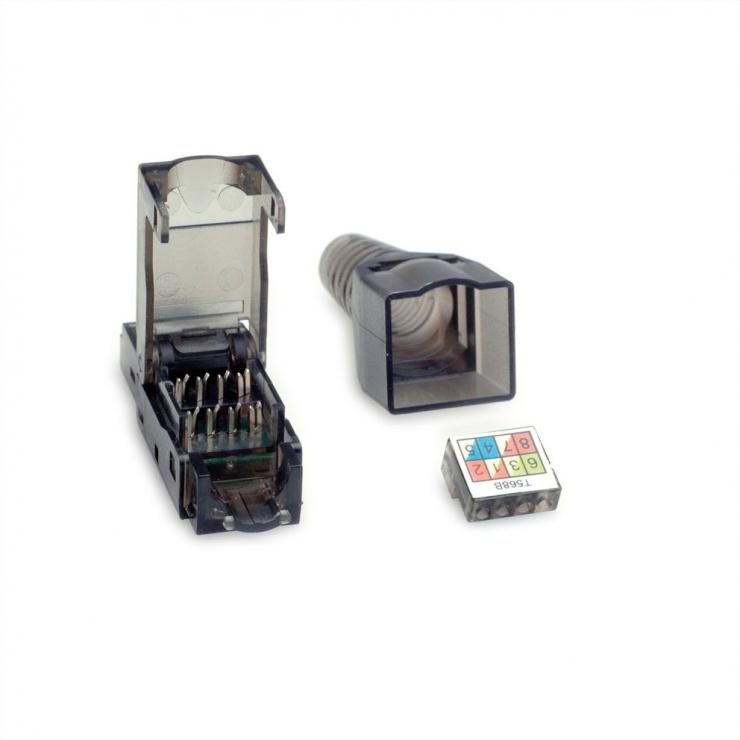 Imagine Conector de retea RJ45 cat 6A UTP pentru fir solid AWG 23-26, Value 26.99.0372