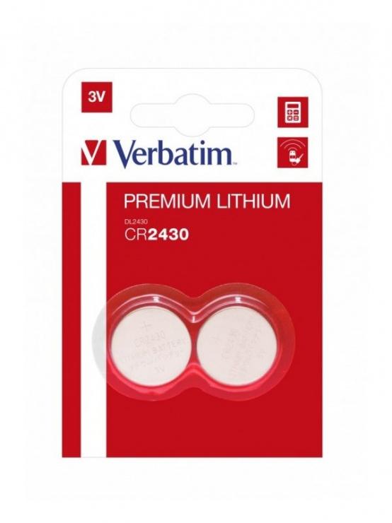 Imagine Set 2 baterii CR2430 3V litiu, Verbatim 49937