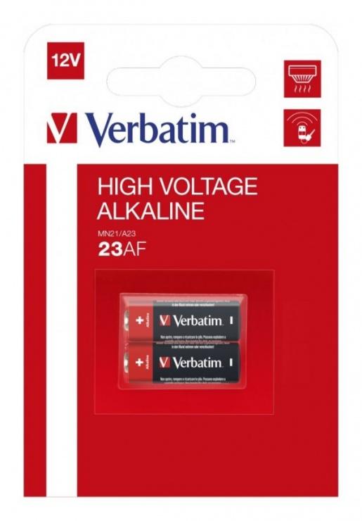Imagine Set 2 baterii pentru telecomanda auto 12V 23A, Verbatim 49939