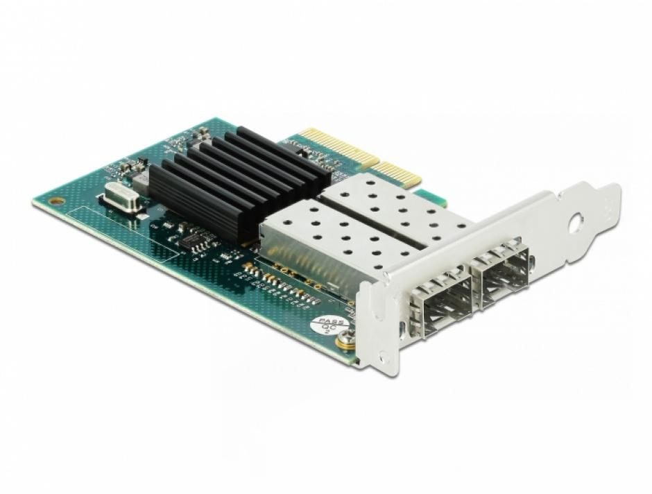 Imagine PCI Express la 2 x SFP slot Gigabit LAN, Delock 90480