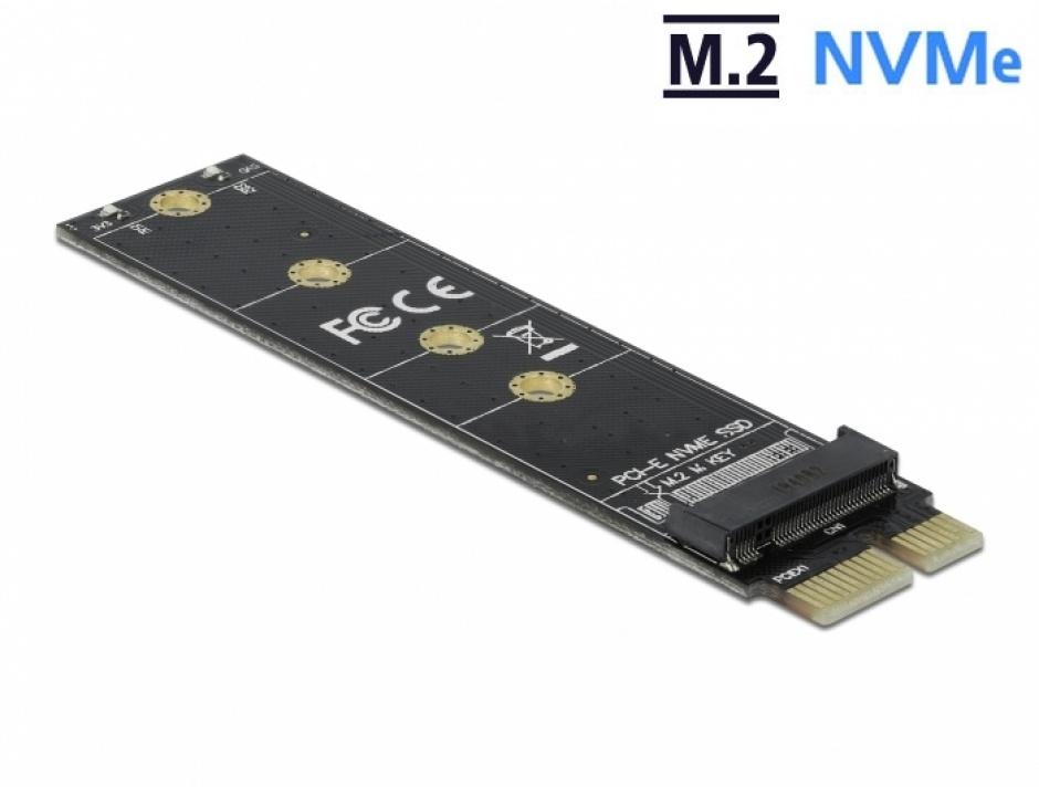 Imagine PCI Express la M.2 Key M NVME, Delock 64105