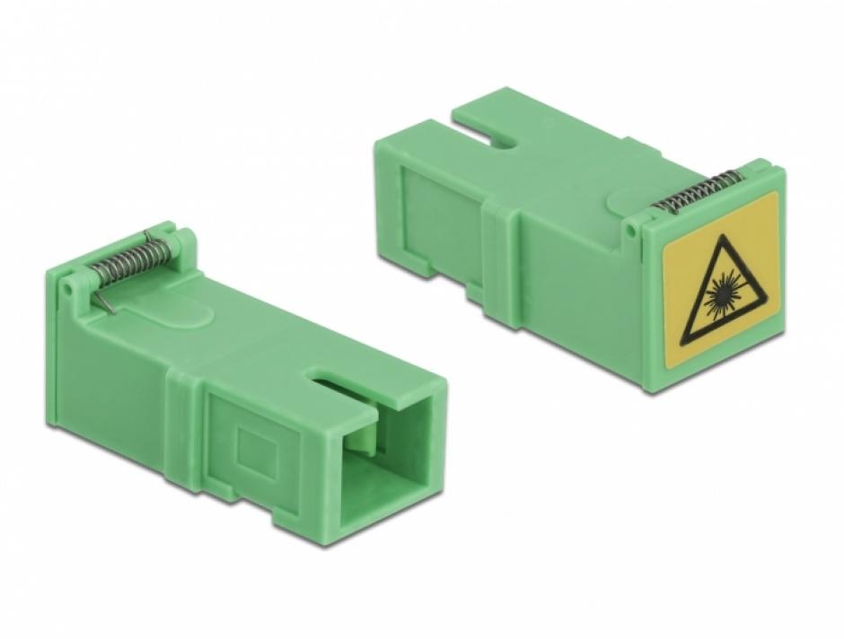 Imagine Set 4 buc cupla SC Simplex M-M cu protectie laser flip, Delock 85925