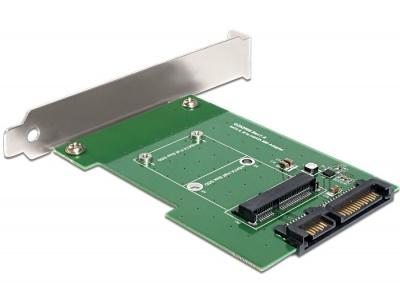 Imagine Convertor SATA 22 pini la mSATA cu bracket, Delock 62433-1