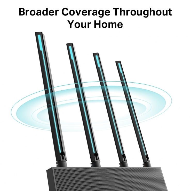 Imagine Router Wi-Fi MU-MIMO AC1900 Gigabit, TP-Link Archer C80