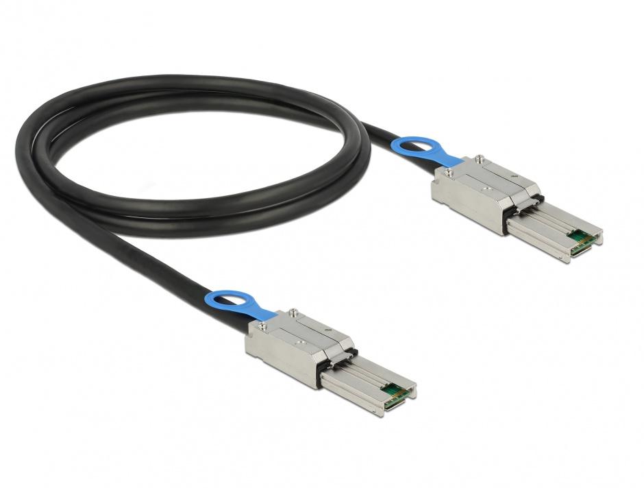 Imagine Cablu mini SAS 26 pin SFF 8088 T-T 1m, Delock 83061