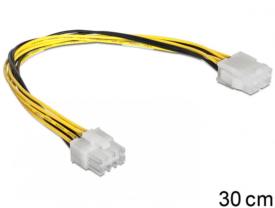 Imagine Cablu prelungitor alimentare EPS 8 pini T-M, Delock 83342