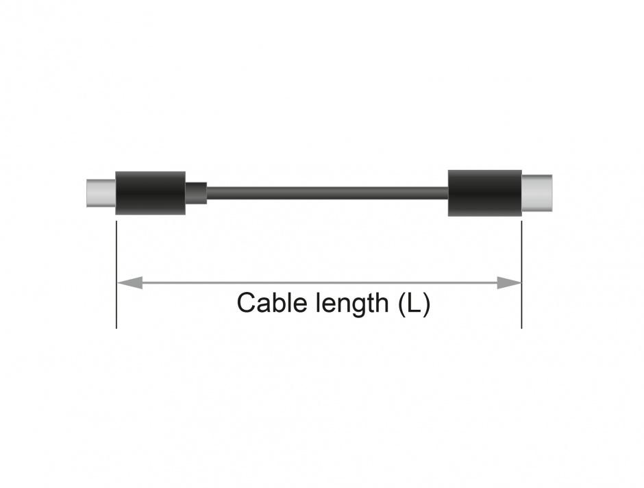 Imagine Cablu USB 2.0 tip C (host) la USB-B (device) 1m T-T Negru, Delock 83601