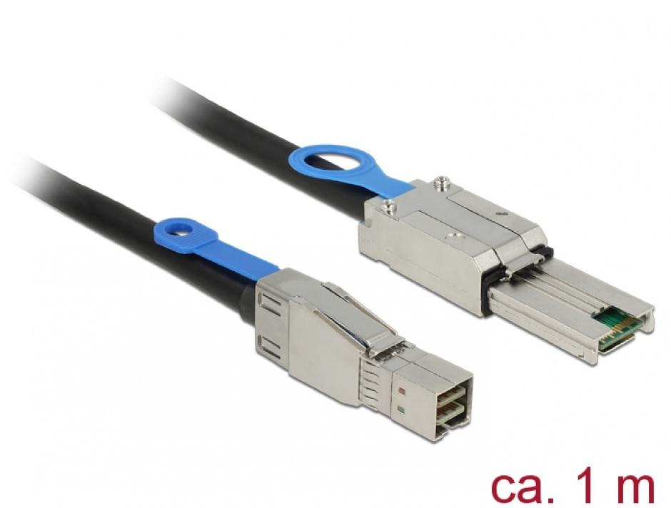 Imagine Cablu Mini SAS HD SFF-8644 la Mini SAS SFF-8088 1m, Delock 83734