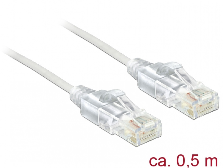 Imagine Cablu RJ45 Cat.6 UTP Slim 0.5m, Delock 83780