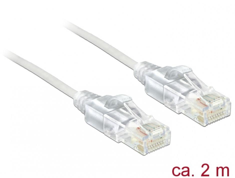 Imagine Cablu RJ45 Cat.6 UTP Slim 2m, Delock 83782
