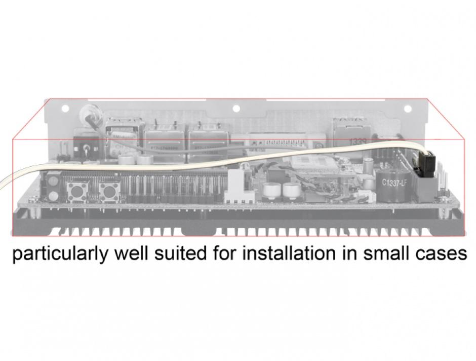 Imagine Cablu SATA III 6 Gb/s FLEXI 10 cm white metal, Delock 83830