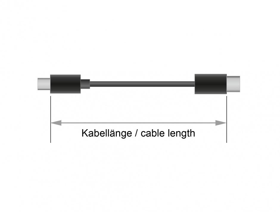Imagine Cablu USB 2.0 tip C T-T Negru 4m 3A, Delock 83868